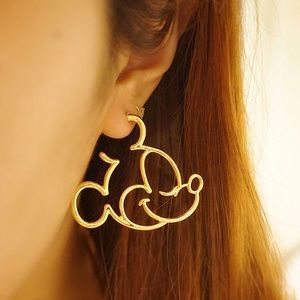 Jewelry - Gold Disney Mickey Mouse Hoop Earrings